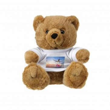 Knuffelbeer met bedrukt shirt