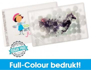 Creditcard pepermuntdoosjes in full-colour bedrukken - Mintdoosje creditkaart bestellen met uw logo of tekst.
