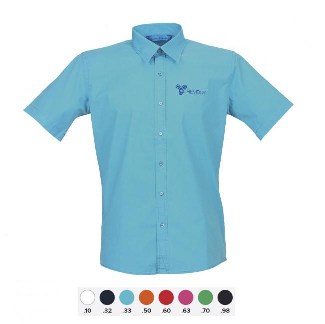 Overhemd Korte Mouw Heren.Lemon Soda Heren Overhemden Met Korte Mouw Bedrukken Met Logo