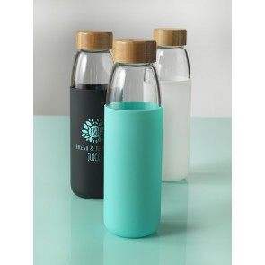 Eco glazen drinkfles 450 ml.