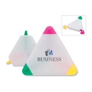 driehoek tekstmarker met opdruk