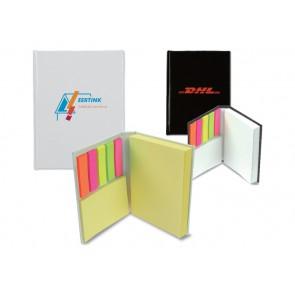 Klein notitieboekje met memoblaadjes bedrukken