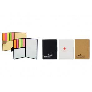 Ecologisch klein notitieboekje met memoblaadjes