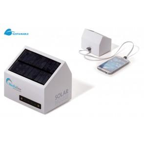 Toppoint mobiele batterij (6000mAh) in de vorm van een huis met een zonnepaneel.