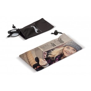 Microfiber Pouch voor Telefoon of Bril goedkoop bedrukken - Zakje waarmee bril of telefoon gereinigd kan worden!