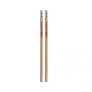 Ongeslepen potloden met gum bedrukken