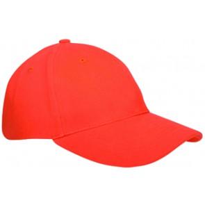 Heavy brushed cap oranje bedrukken