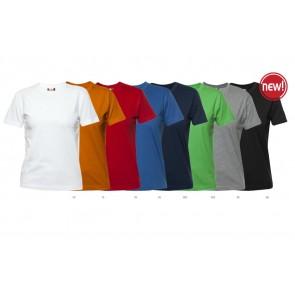 Clique Premium Dames Shirts Bedrukken. Single Jersey t-shirt met dubbele boord en nektape.
