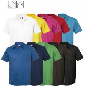 Munford overhemd Korte Mouw bedrukken - Twill overhemd met korte mouwen