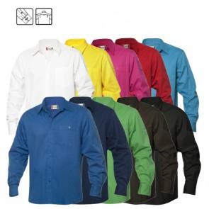 Sullivan overhemd bedrukken - Twill overhemd met lange mouwen,