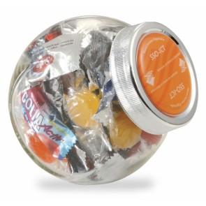Kleine Snoeppotten bedrukken - Kleine Snoeppot (0,4 Liter) met vulling naar keuze.