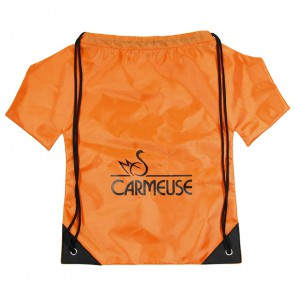 Oranje nylon T-shirt rugzakjes