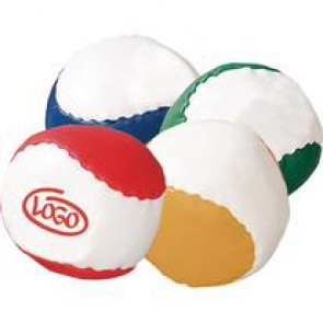 Zachte anti-stressball met korrelvulling.