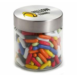 Glazen Snoeppot bedrukken- Glazen Snoeppot (0,35 Liter) met vulling naar keuze