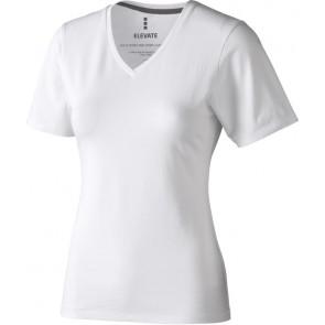 Organic T-shirt V hals dames