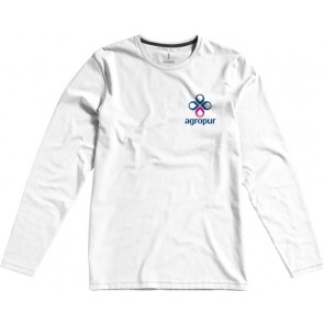 Organic T-shirt long sleeve heren