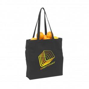 Zwarte CANVAS tassen bedrukken