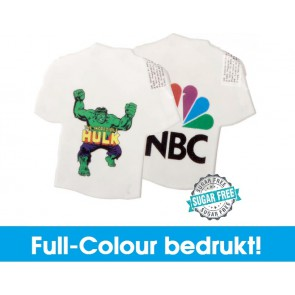 T-shirt mintdoosje in full-colour bedrukken - Goedkope t-shirt mintdispensers bestellen.
