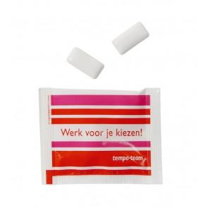 Zakje met kauwgom bedrukken - 2 kauwoms in bedrukt zakje