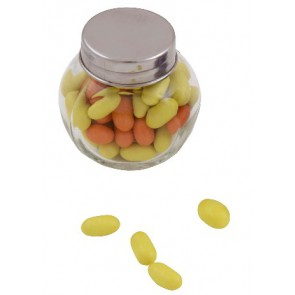 bedrukte kleine glazen snoeppotjes