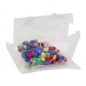 Mini tas gevuld met choco carletties