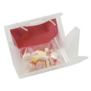 Mini tas gevuld met hartjes