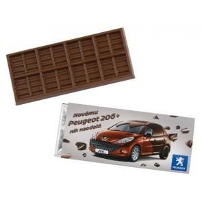 Chocoladerepen bedrukken goedkoop | Chocoladereep met eigen wikkel