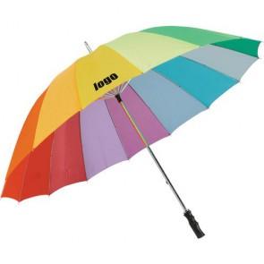 Multicolour paraplu's goedkoop bedrukken