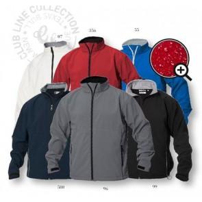 Softshell heren jas, te bedrukken of borduren met logo of tekst.