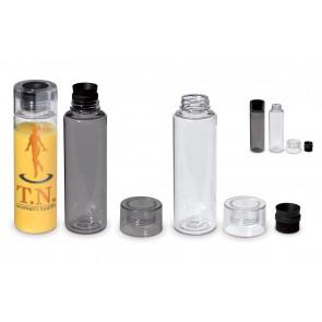 Drinkflessen kunststof transparant bedrukken als reclameartikel