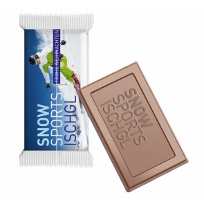 Logo Chocolade Tablet - Logo Chocolade Tablet met full-colour bedrukte folie.