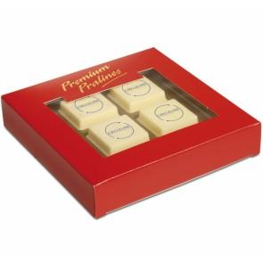 Chocolade bedrukken - Chocolade met full-colour opdruk in geschenkdoosje.