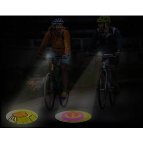 Bikeled Super fietslampjes - Projecteert uw logo op straat!