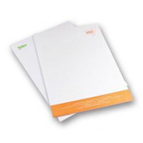 Schrijfblokken A5 - 50 vel bedrukt in 1 kleur