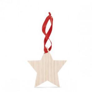 kerstboom hanger ster bedrukken met logo