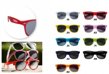 gekleurde Zonnebrillen bedrukken