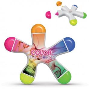 Markeerstift met 5 kleuren bedrukken