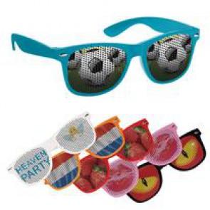 Zonnebrillen met bedrukte glazen
