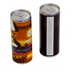 Blikje Energy Drink eigen label  Blikjes energydrink bedrukken met eigen etiket