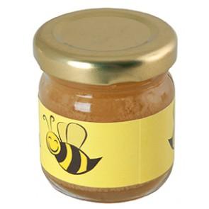 glazen potje met honing bedrukken