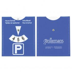 Parkeerschijf kunstleer goedkoop bedrukken