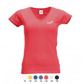 Dames V-hals shirts bedrukken met logo